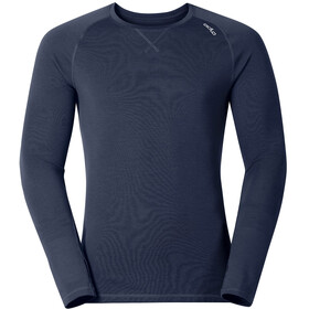 Odlo M's Revolution Warm L/S Crew Neck Navy New Melange